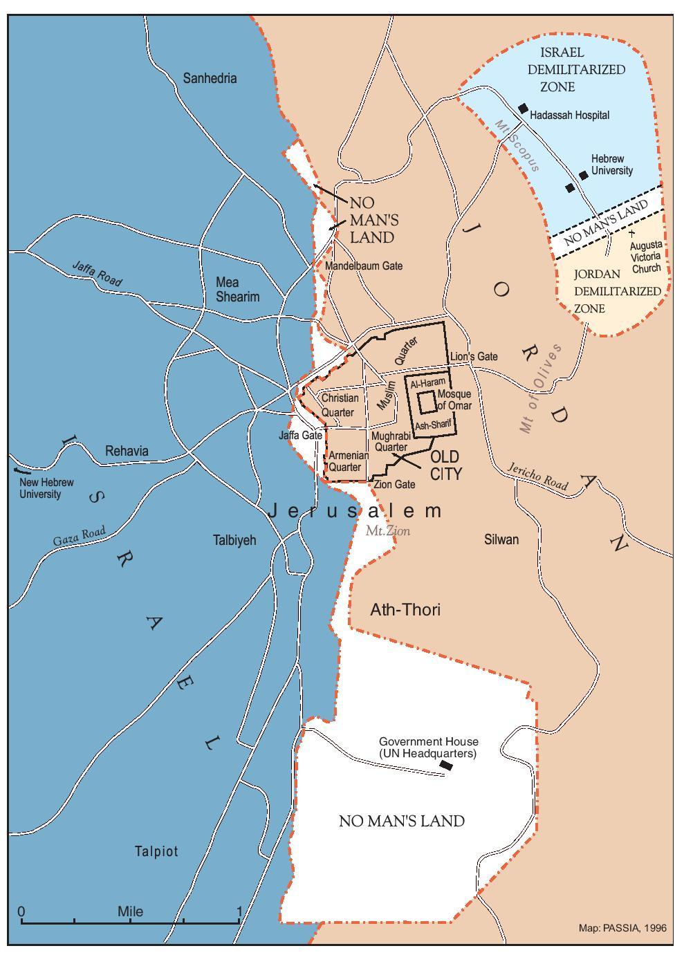 PASSIA MAPS Jerusalem PARTITIONED JERUSALEM - Jordan map hd pdf