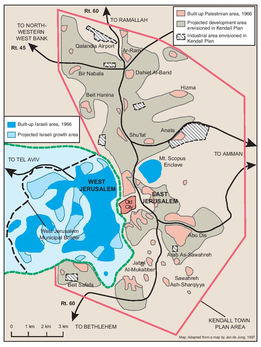 PIA - MAPS - Jerusalem - THE KENDALL TOWN SCHEME, 1966 Scheme Map on