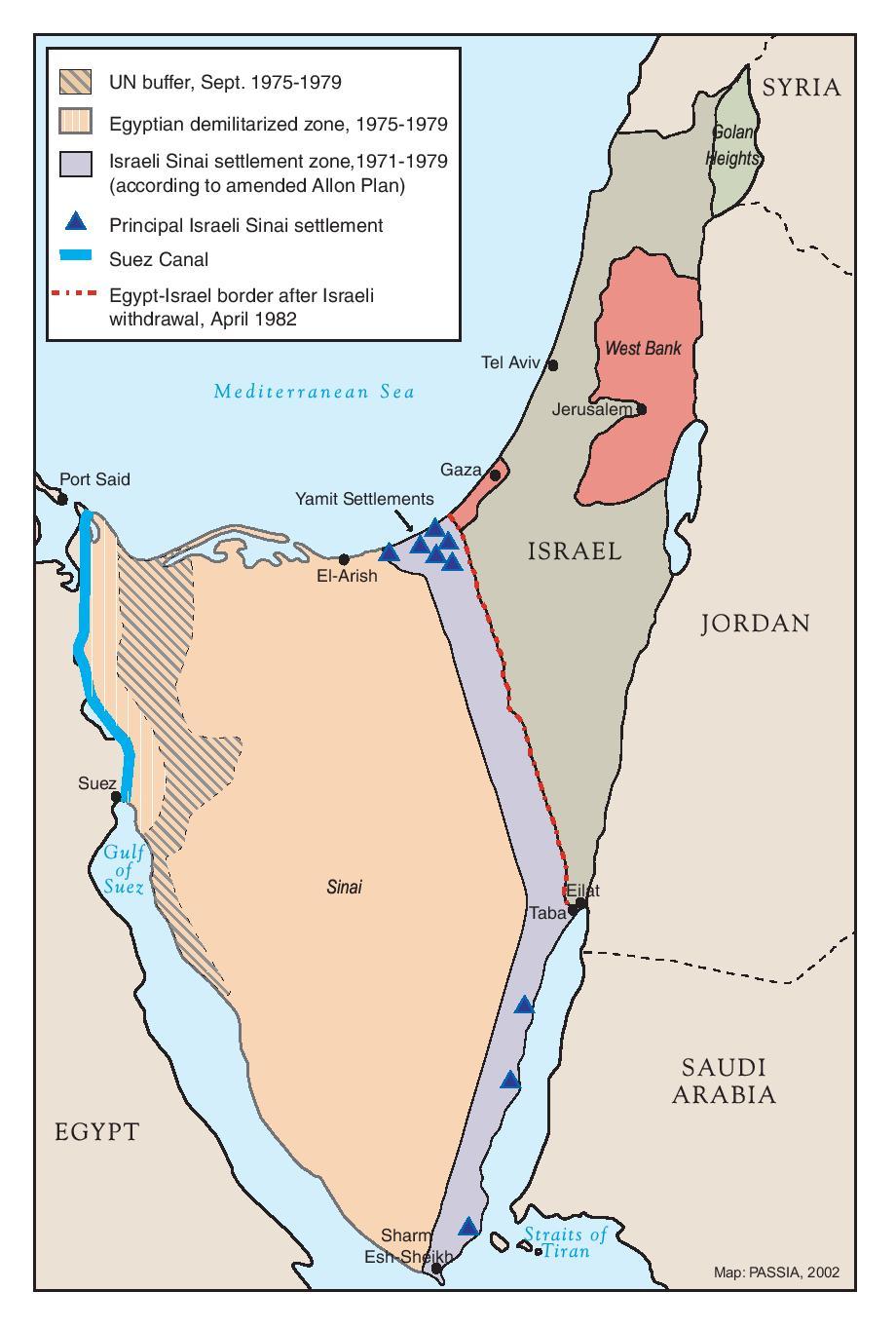 Passia Maps Palestine The Camp David Accords 1978 1979