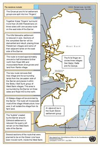 REVISED ROUTE OF THE ISRAELI SEPARATION BARRIER, 2006
