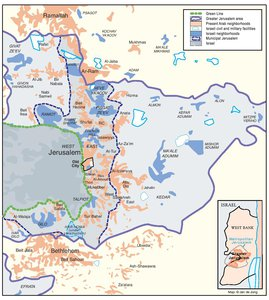 ARAB EAST JERUSALEM WITHIN 'GREATER' JERUSALEM, 2000